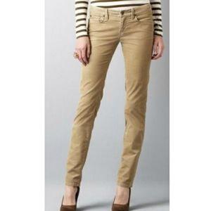 J. Crew City Fit Matchstick Corduroy Pant Size 26s